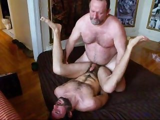 Daddy Bear Unloads Inside His Pup