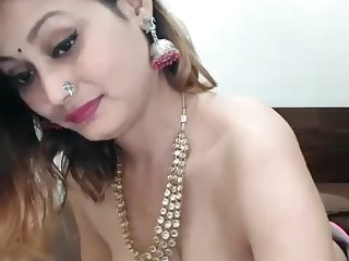 Smoking Desi Aunty exposing boobs and running her wet pussy