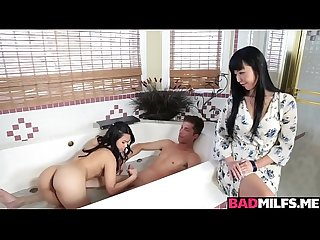 Asians Marica and Cindy loves fucking a huge cock