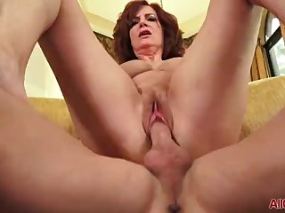 Big Tits Redhead MILF Andi James Gets Fucked on AllOver30