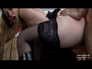 Mature french cougar in stockings analyzed with cum to mouth